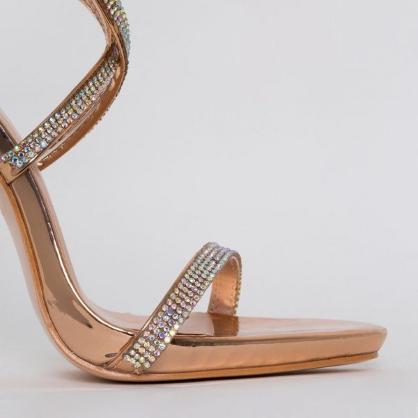 Alegra Gold heels diamante